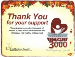 Pathfinder Supports Thanksgiving Appeal